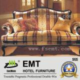 Sofa de meubles d'entrée d'hôtel de bonne qualité (EMT-SF02)