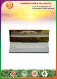 Papel de cigarrillo con extremidades de filtro