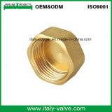 OEM & ODM Capuchón de cobre amarillo de la calidad que ajusta / ajuste del enchufe (AV-BF-7043)