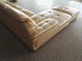 Europa-Typ Oberseiten-Korn-echtes Leder-Sofa (A816)