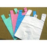 HDPE weißer Shirt-Plastikbeutel mit Drucken