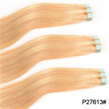 Blondes brasilianisches Virgin Hair Skin Weft Tape in Hair Extensions