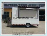 Carro móvel do alimento do café da caravana de Remorque Churros da cozinha de Exoprt