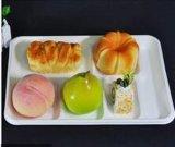 Conditionnement des aliments de empaquetage biodégradable remplaçable blanchi d'aliments surgelés avec 6 compartiments