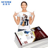 A4 Dark Light Color T-Shirt Inkjet Laser Transferencia de Calor