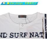 Maglietta rotonda del tasto del collo degli uomini con il foro del pollice