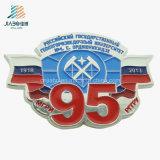 Ricordi personalizzati per il distintivo della polizia del collare dell'argento dell'oggetto d'antiquariato della vernice della Russia