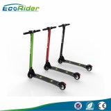 2017 bicicleta eléctrica Ebike dos de la pequeña de la rueda 350W del carbón vespa eléctrica plegable caliente de la fibra