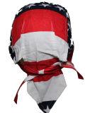 Custom Made Logo imprimé coton promotionnel Dew Rag Biker Sports Headwraps Doo Rag