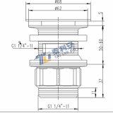 Empuje hacia arriba doméstica de residuos para lavabo (T1005)