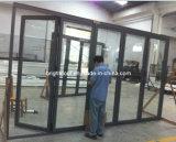 A porta de dobramento de alumínio do pátio de 5 placas com baixo ponto inicial e Flyscreen está disponível (CL-D2021)