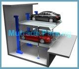 Carro móvel que estaciona o empilhador do carro de dois assoalhos