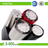 0.6/1kv Aluminum Core PVC, XLPE Insulated Aerial Bundle ABC Cable