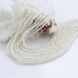 自然な淡水の真珠の繊維のあたりの小さいシード3mm安く半