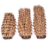 100%年のバージンの人間の毛髪の自然なカーリーヘアーの拡張