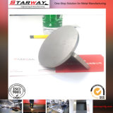 Edelstahl-Blech, das Herstellungs-Metallmaschinerieteil darstellt