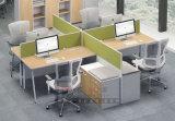 MDFの木製のオフィス用家具のオフィス・コンピュータ表の机デザイン中国製広州の現代製造者