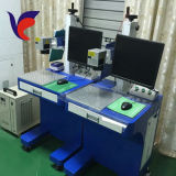 プラスチック金属PPのためのファイバーレーザーのマーキングの彫版機械