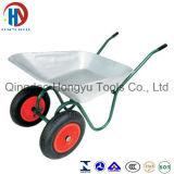 Wheelbarrow durável das rodas do aço dois da venda quente bonita (WB6407)