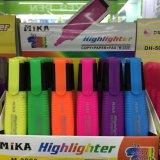 Pena do Highlighter de 6 cores, pena fluorescente