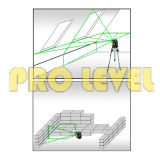 уровень лазера автоматический выравнивать 1h1V зеленый (SK-118G)