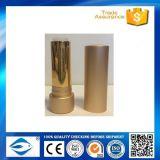 Tubo de labial de aluminio exquisito y contenedor de lápiz labial