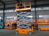 10m autopropulsada de tijera eléctrica hidráulica de elevación