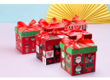 Rectángulo de regalo fino de boda del papel de imprenta, rectángulo de regalo modificado para requisitos particulares del caramelo