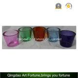 El sostenedor de cristal de Tealight de la venta caliente con piensa Pared-Pequeño colorido
