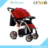 Umbrellar를 가진 시트 유모차 또는 조밀한 접히는 아기 조깅하는 사람 운반대는 기댄다