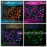 Cortina al aire libre del terciopelo los 4*6m RGB del apilador doble de la estrella de la cortina LED de las cortinas ligeras incombustibles LED de la estrella