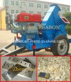 Máquina Chipper de madeira com o motor elétrico e diesel