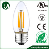 Bulbo 4W 6W 2W 1W da vela do diodo emissor de luz do filamento de Dimmable E14