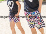 Пары одевая краткости пляжа, краткости lhbim, краткости доски для любовника