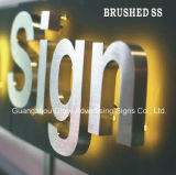 De geborstelde Ss Raad van het Teken van de Brief Signboard/LED van het Kanaal