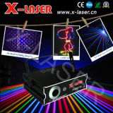 1000mw/1W RGB Animation Laser Light mit SD+2d+Grating Pattern, Holiday Laser Projector, Stroboscopic Stage Light