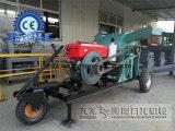 ログおよび材木の処理のための移動式押しつぶす機械
