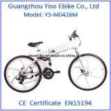 Bicicleta elétrica a pilhas da montanha do lítio com a roda da liga do magnésio