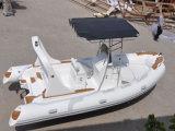 Barco inflable de alta velocidad de la mejor venta de Liya el 19ft con el barco del lujo de China del motor externo