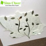 Venta de alta Carrara mármol blanco mezclado de cristal de la hoja de chorro de agua Mosaico
