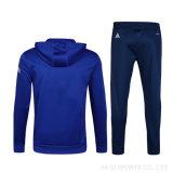 ブランドの工場オンラインショッピングOEMの青いメンズはロゴの適当なトラックスーツを細くする