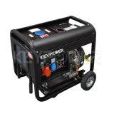6kVA open Diesel van het Type Draagbare Luchtgekoelde Generator met Wielen