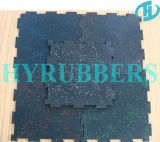 EPDM Rubber Gym Floor Tileの高品質Factory Produced Interlock Black