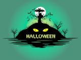 Pintura personalizada, pintura da decoração de Halloween da lona de Halloween