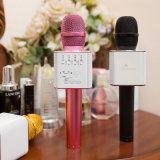 De Draadloze Microfoon van de Speler van de Karaoke van de Prijs van de fabriek Q9 met Mic het Zingende Verslag van de Spreker KTV