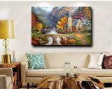 Olieverfschilderij van het Landschap van het Landschap van de Herfst van de fabriek het direct In het groot op Canvas