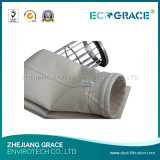 Saco de filtro de retirada de poeiras de alta temperatura da fibra de vidro do filtro PTFE