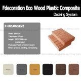 Decking composé en plastique en bois de vente chaude pour extérieur