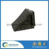 Black ou EPDM Truck Wheel Chock, Rubber Car Stopper