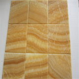 黄色い蜂蜜のオニックス大理石